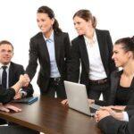 Men, Employees, Suit, Work, Greeting