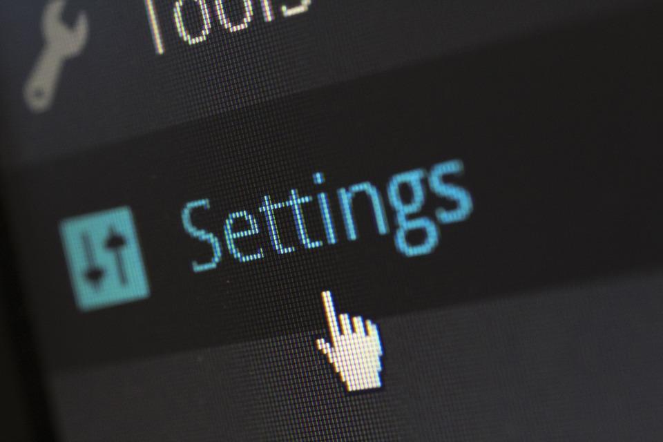 Settings, Options, Software, Website, Cms, WordPress
